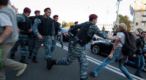 Кривой Рог, Украина - протестует